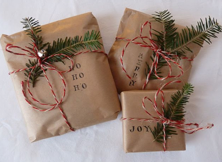 natural wrapping paper and bakers twine