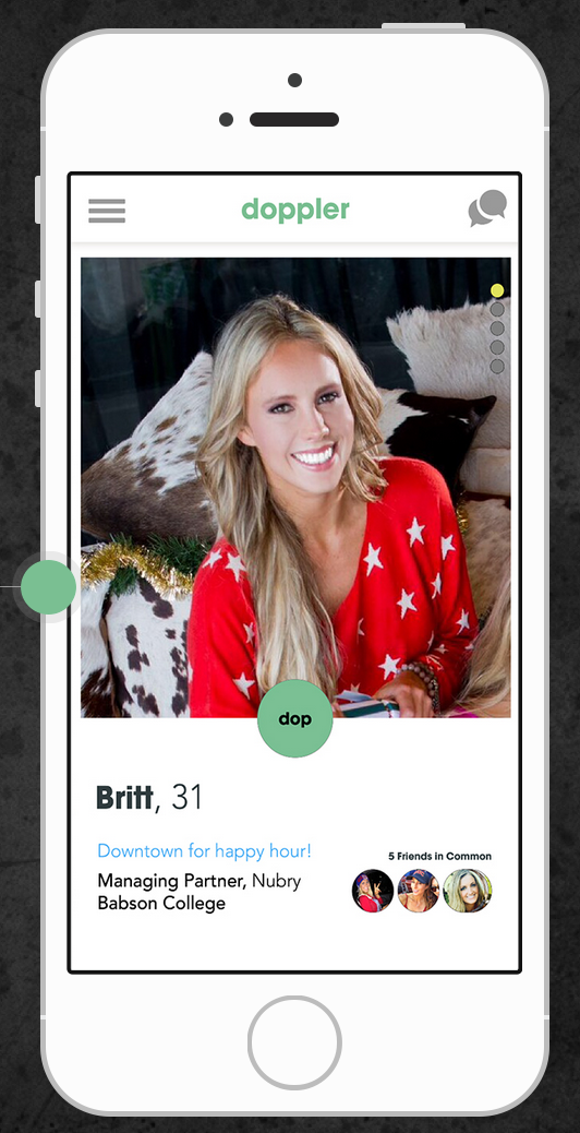 Dating App Doppler - iphone demo
