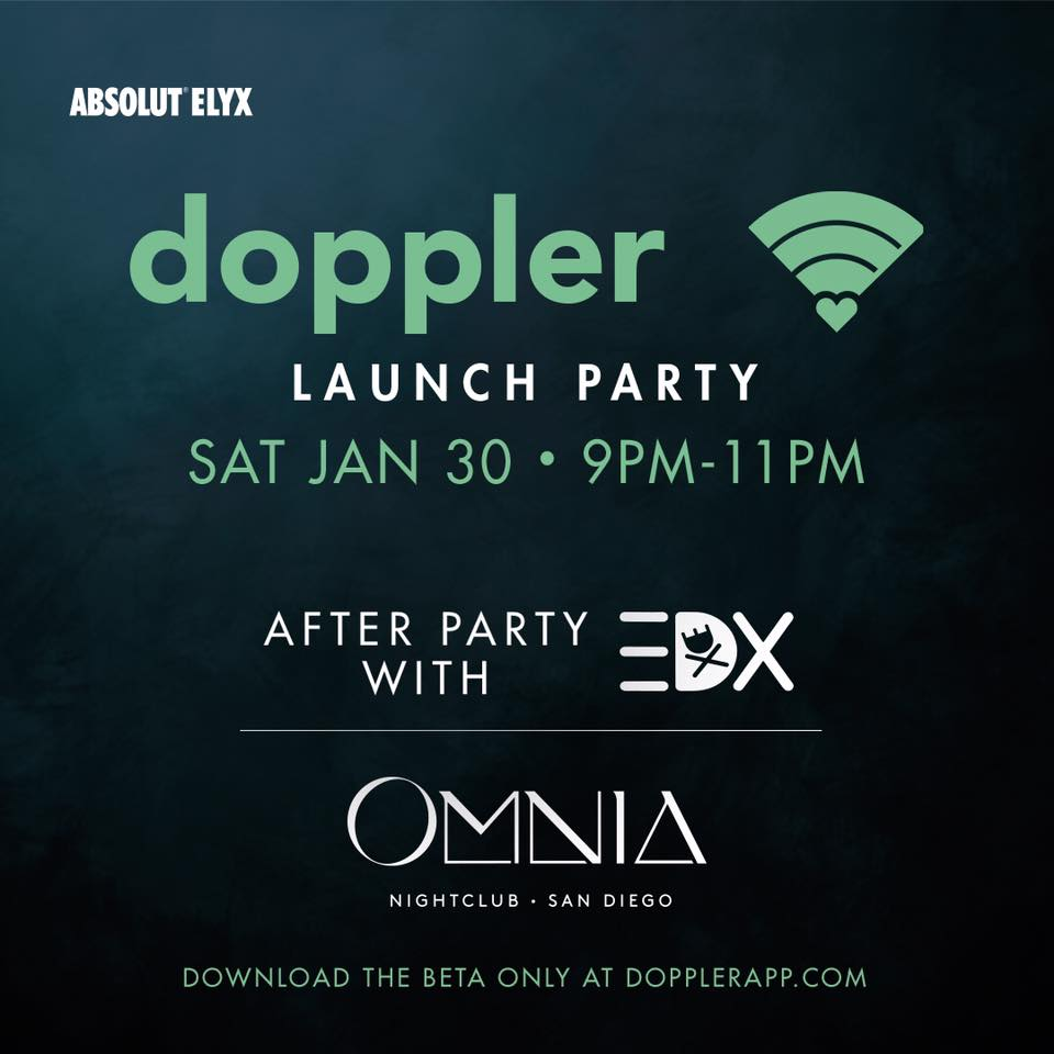 dating app doppler launch party san diego