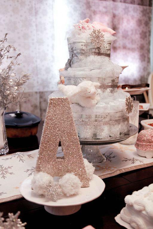 winter-baby-shower-ideas-diaper-cake