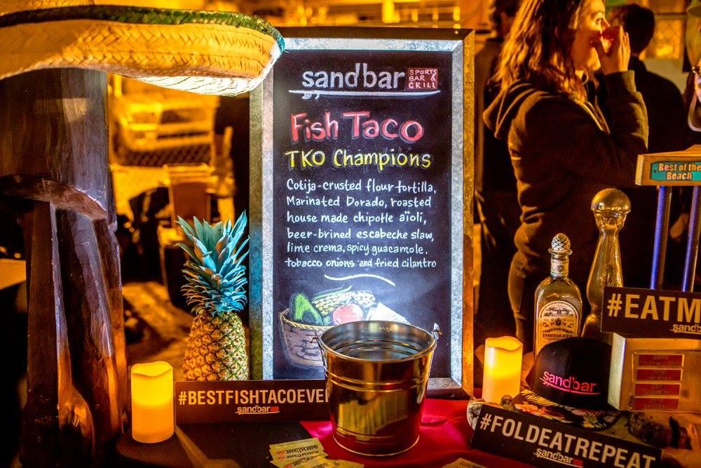 San diego bay wine festival nubry sand bar taco winner