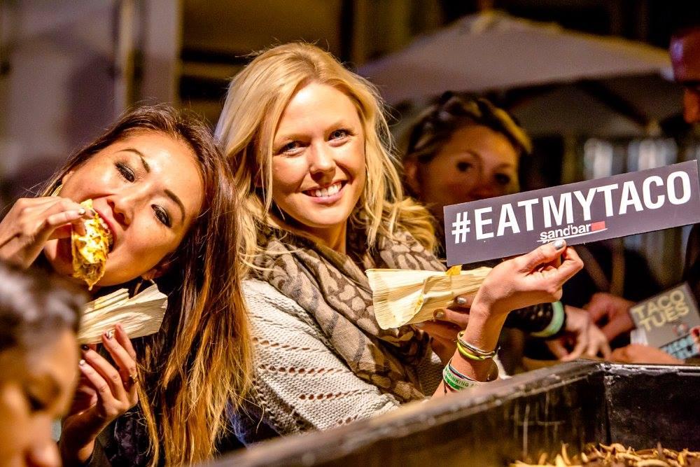 Fish Taco TKO - girls eating tacos Sandbar
