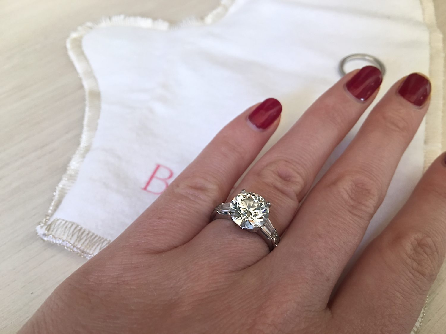 clean engagement ring with bling brush