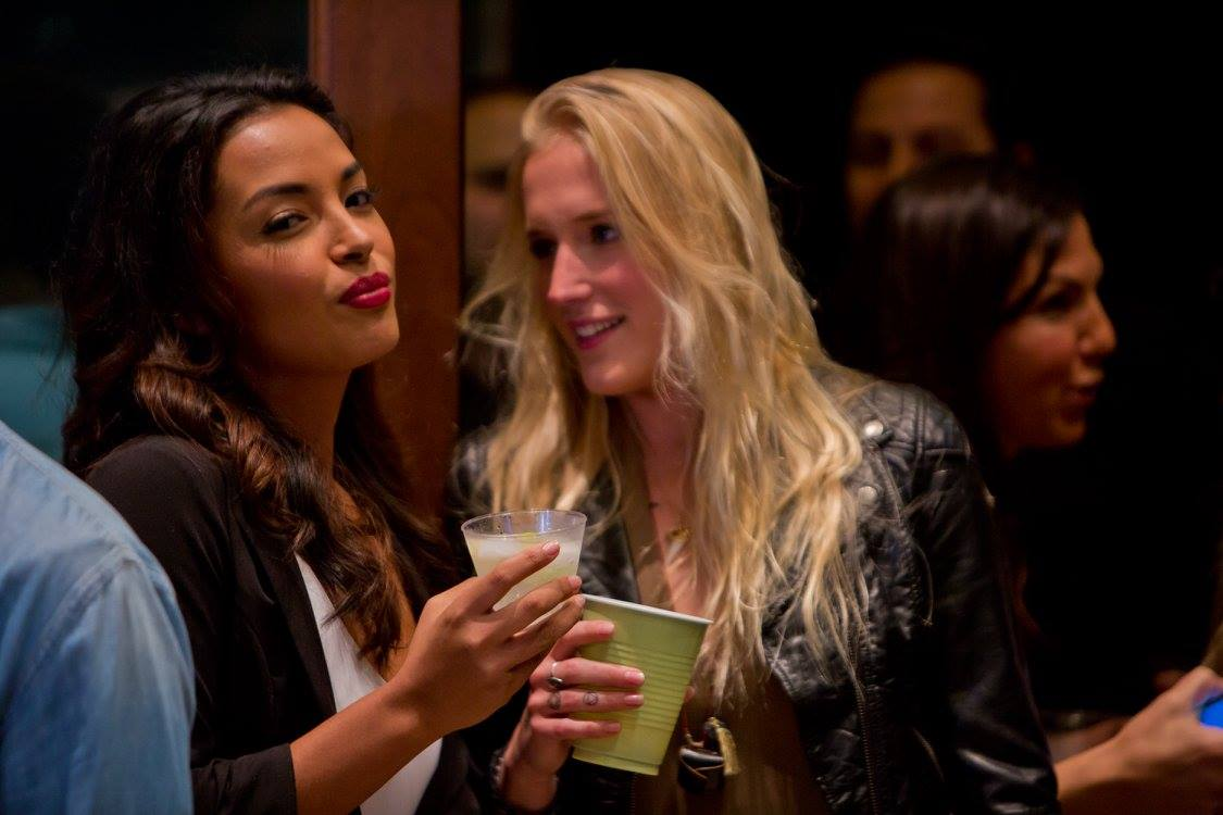single ladies at upscale dating app launch party