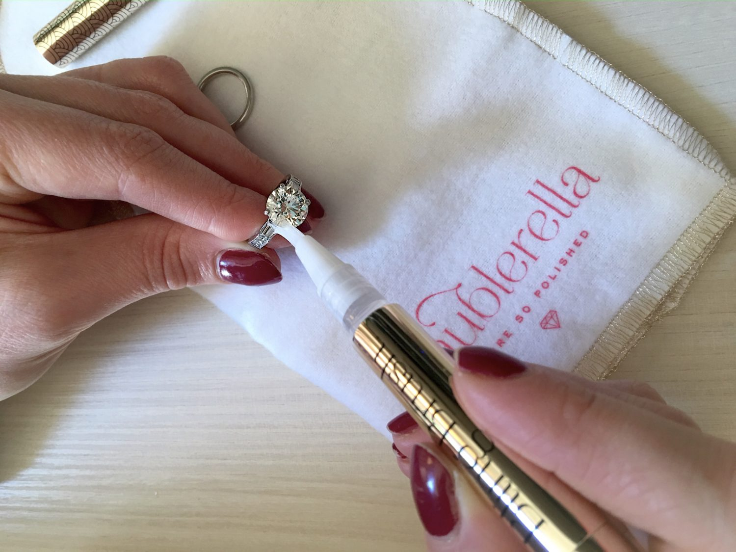 how to clean your engagement ring - bling brush 5