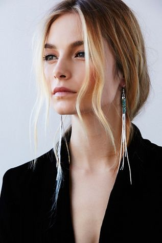 jewelry framing face - long earrings