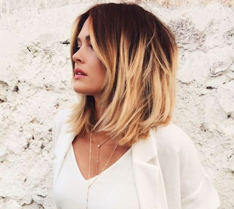 short hair bob with blonde balayage