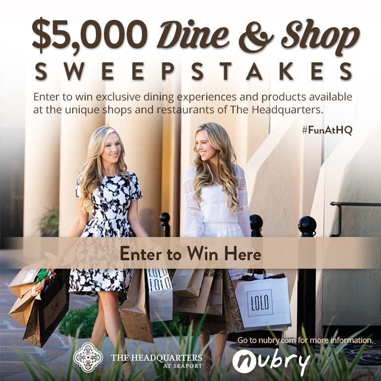 Headquarters at Seaport dine and shop sweepstakes