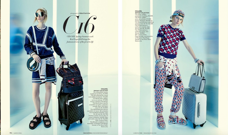 Neiman Marcus spring 2016 lookbook - Chanel Suitcase Price $7000