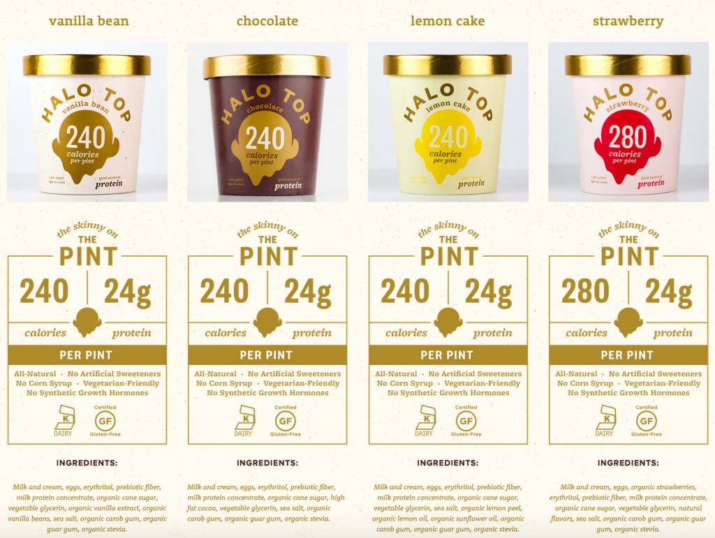 halo top healthy ice cream flavors
