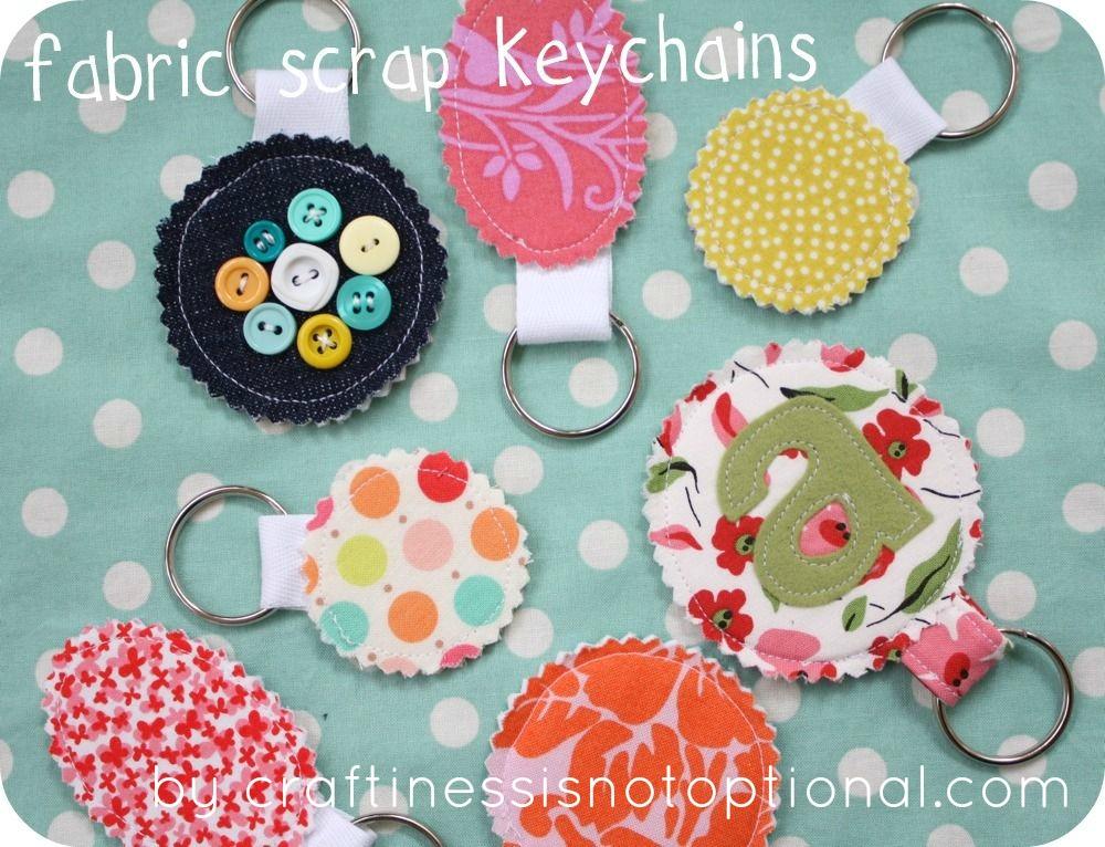 Fabric Scrap Key Chain