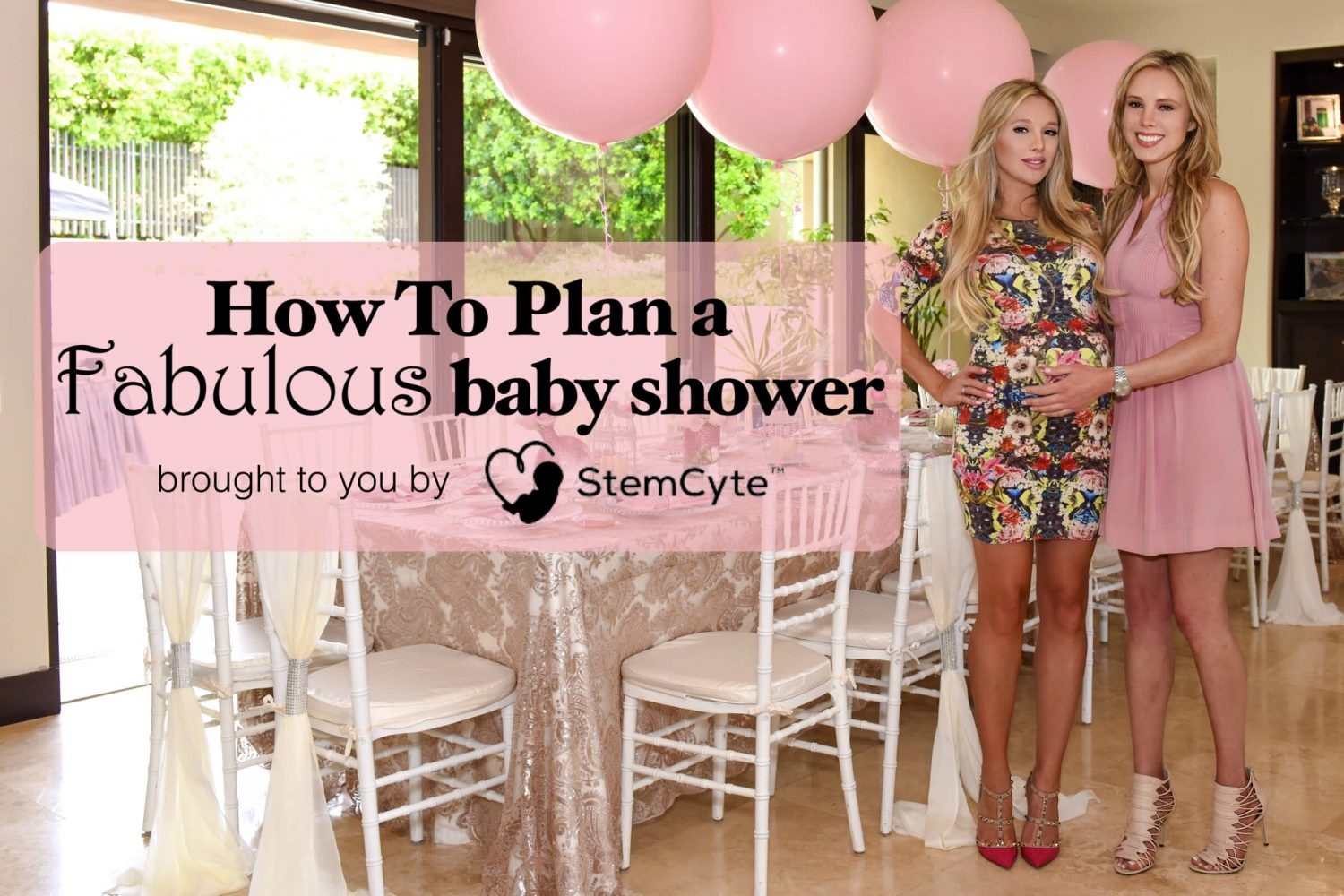 fabulous pink girl baby shower - how to plan