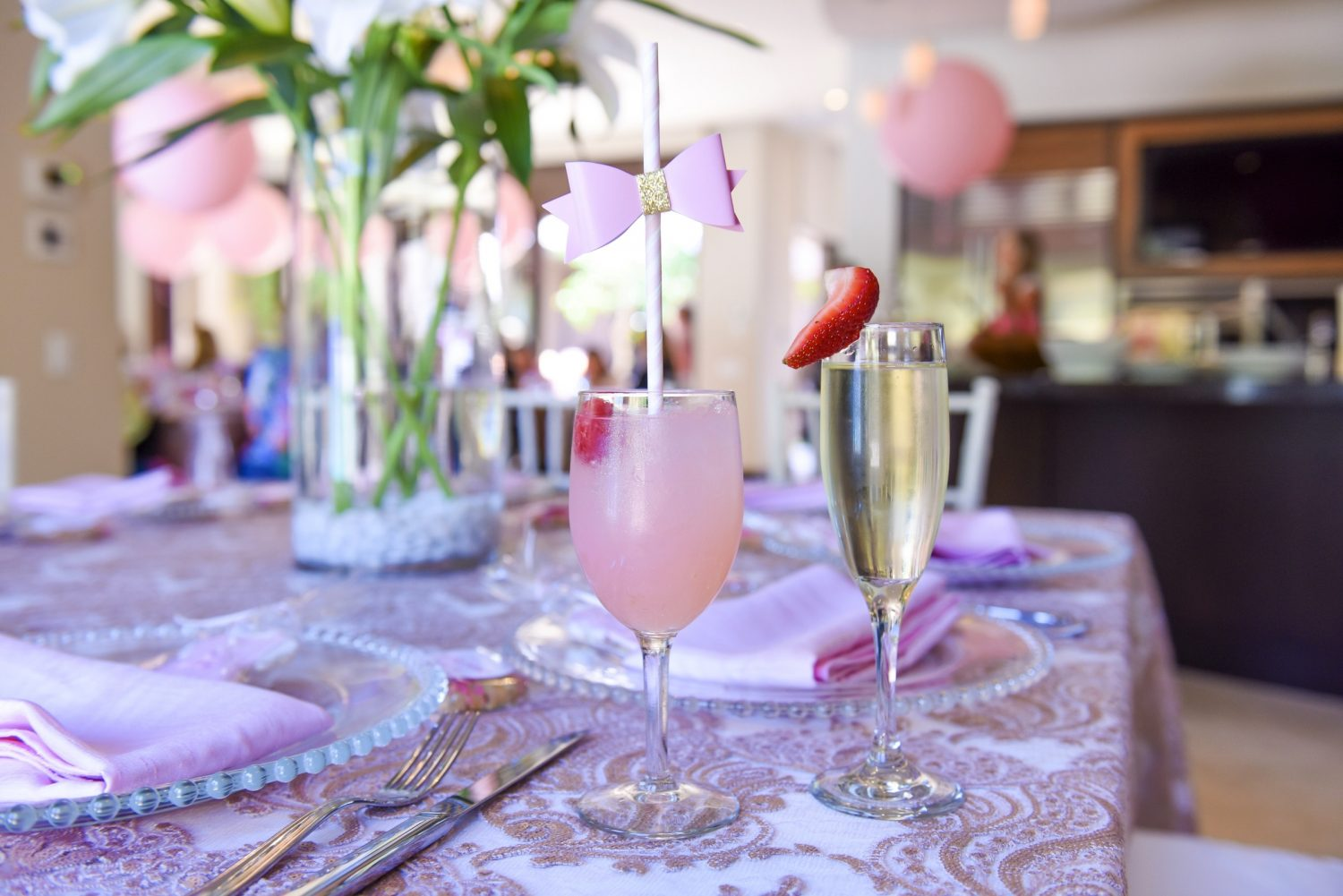 girl baby shower - pink decor ideas 2