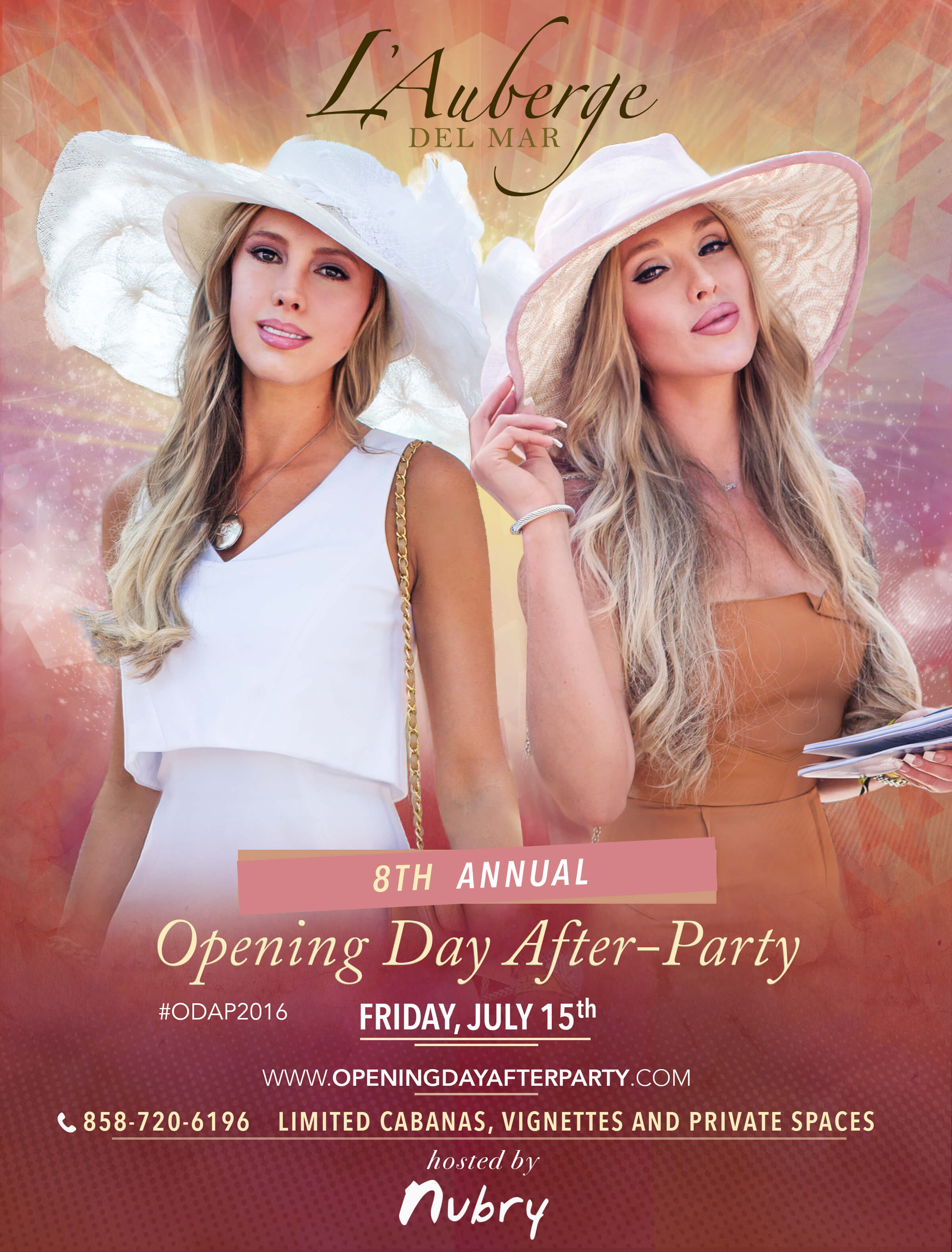 lauberge del mar opening day after-party 2016 flyer