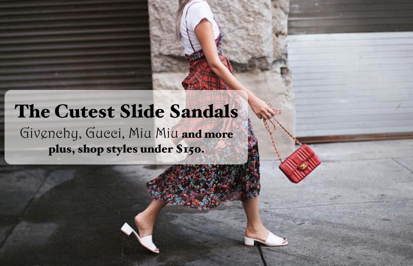 The best designer slide sandals plus Givenchy slides! And cheap slides for women under $150. #fall2016