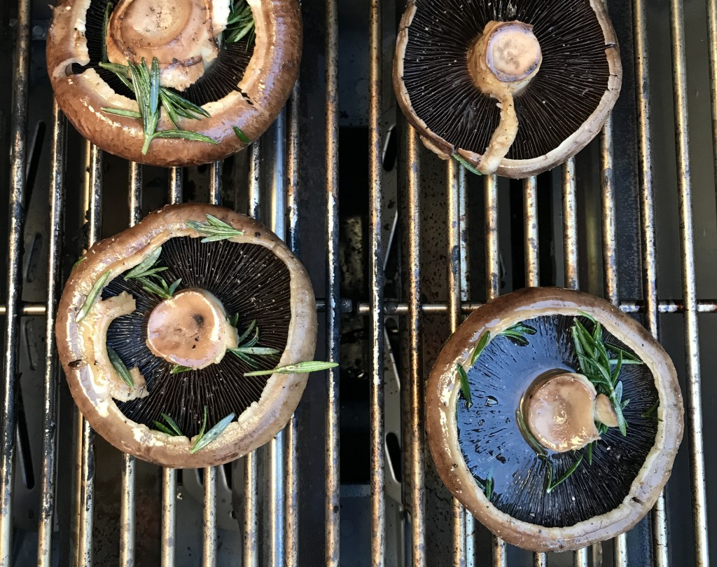 grilled portobello mushrooms with fresh rosemary